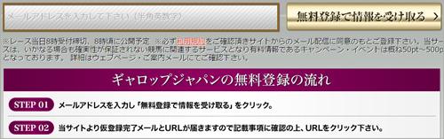 ギャロップジャパンの登録フォーム